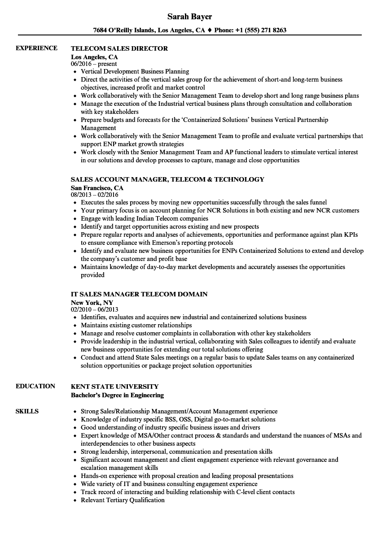 business head resume sample