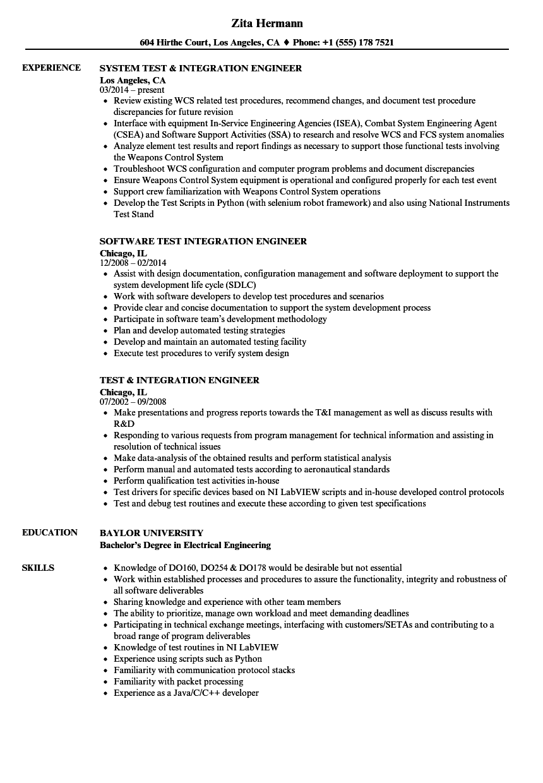 test data management sample resume