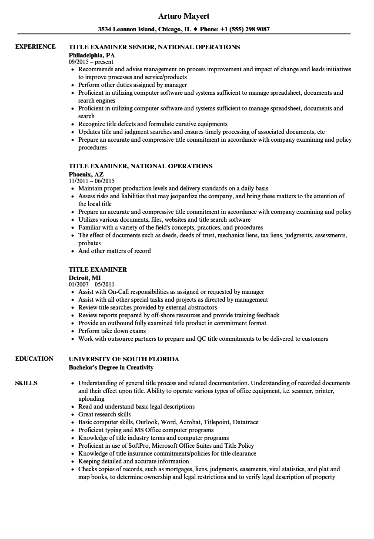 plan examiner resume sample