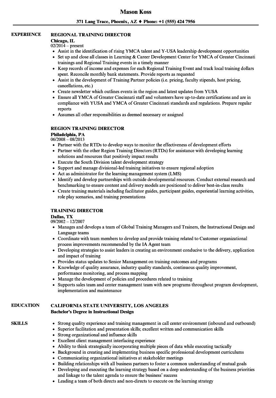safety director resume sample