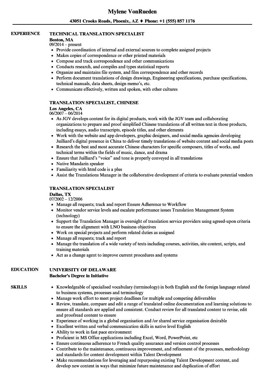 resume in spanish slang