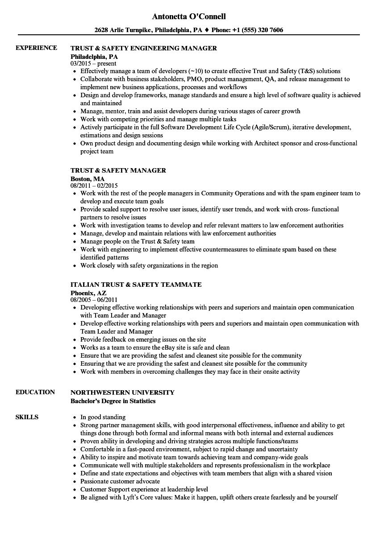 work in team resume sample