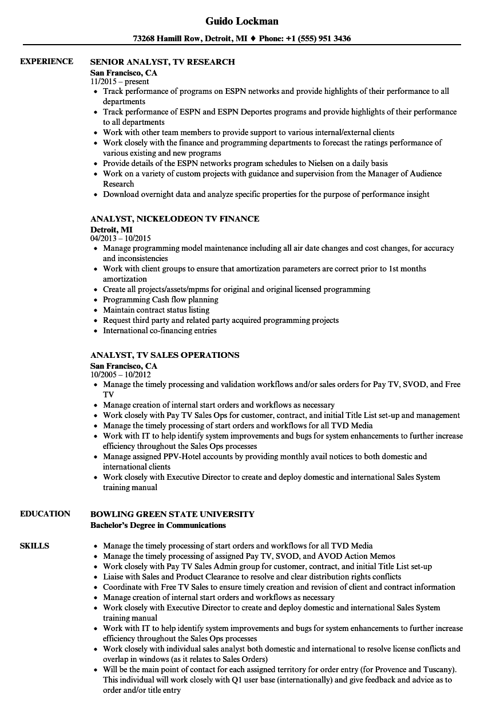 social media analyst resume sample