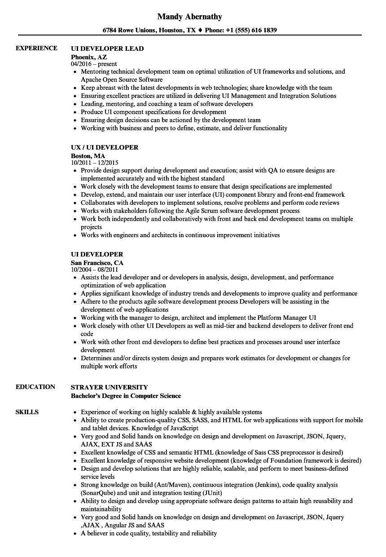 sample resume for h1b jobs