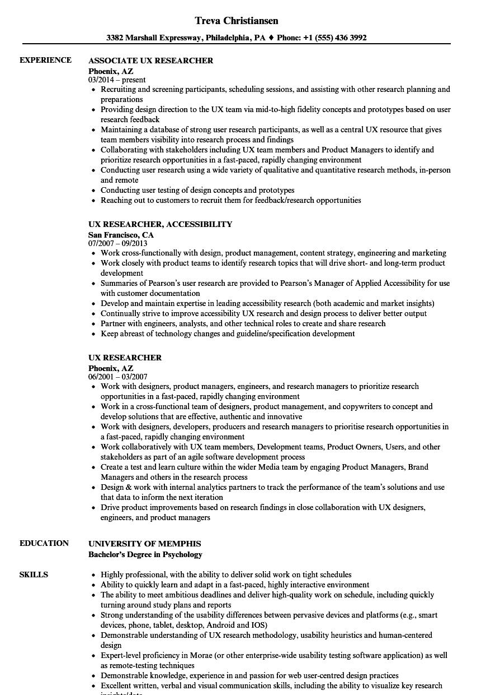 design researcher resume