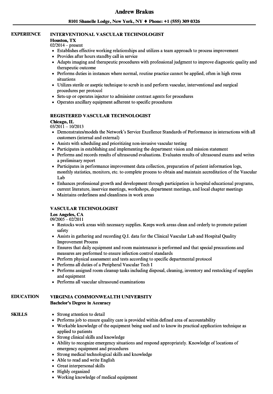 ultrasound technologist resume sample