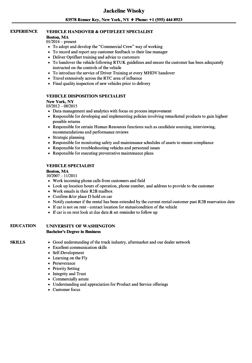 sample credit specialist resume