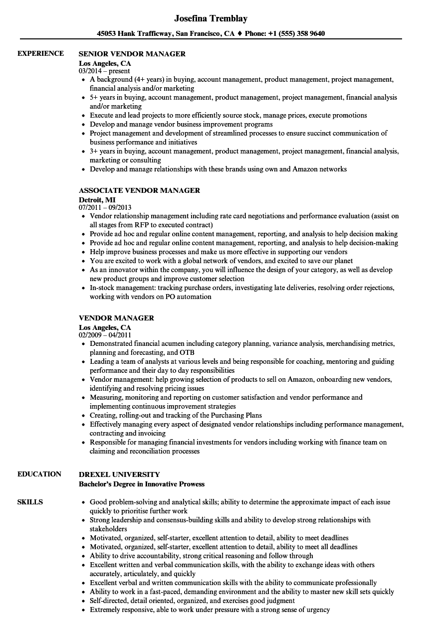 ops manager resume sample