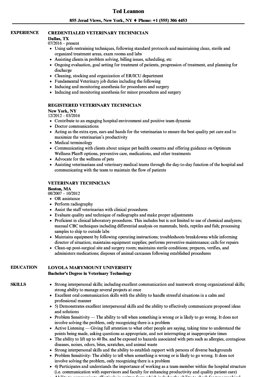 resume examples behavior technician