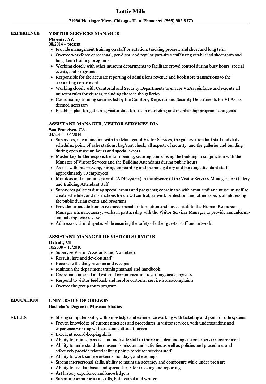 resume for museum job