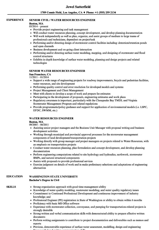 epa federal resume example