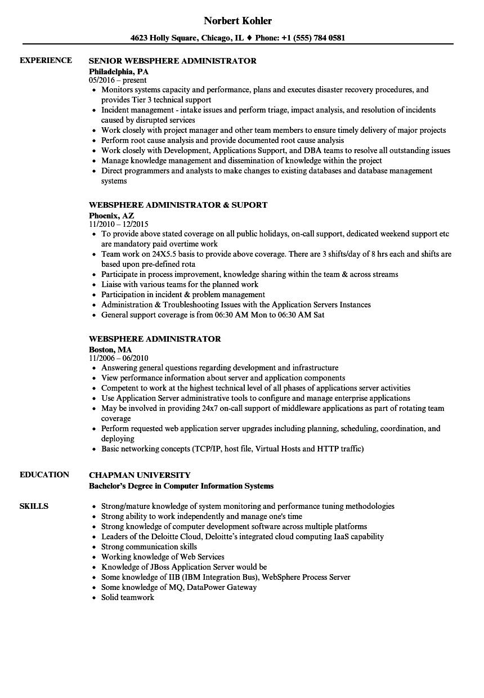 sample unix resume