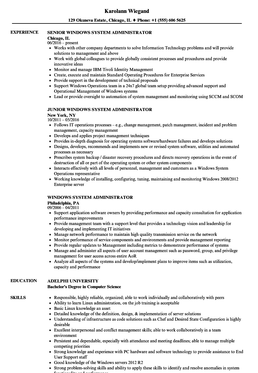 computer security resume sample