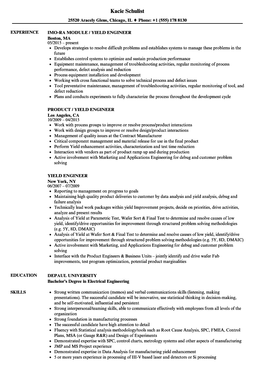 data engineer resume sample