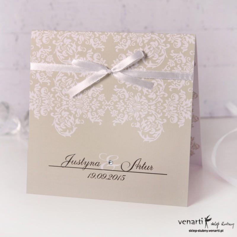 Zaproszenia ślubne rustykalne k016 (382) - Sklep ślubny Venarti