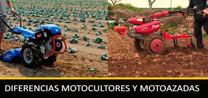 Diferencia entre Motocultores y Motoazadas