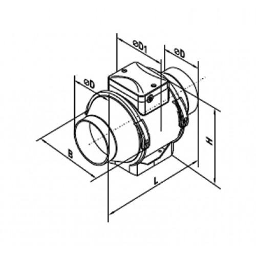 inline duct fan bedradings schema