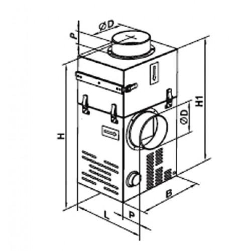 fireplace fan bedradings schema