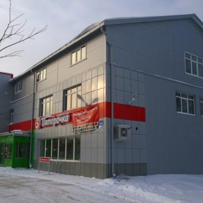 Комплектация и монтаж вентилируемого фасада, с облицовкой металлокассетами и профлистом на оцинкованную подсистему.