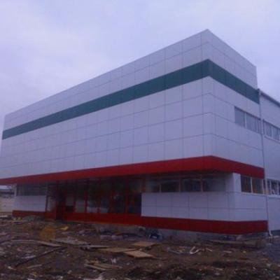 Комплектация и монтаж вентилируемого фасада, с утеплением 120мм в два слоя, облицовкой кассетами из композита.