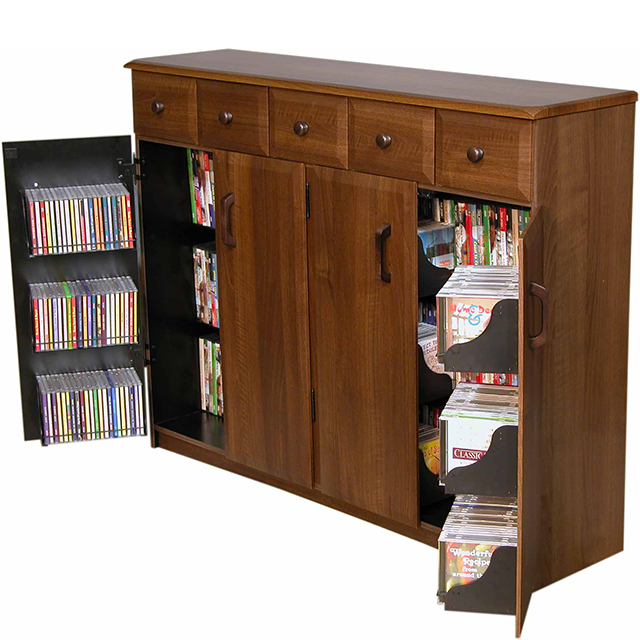 Venture Horizon Media Cabinet With Drawers