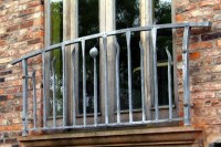 Contemporary wrought iron Juliet balcony
