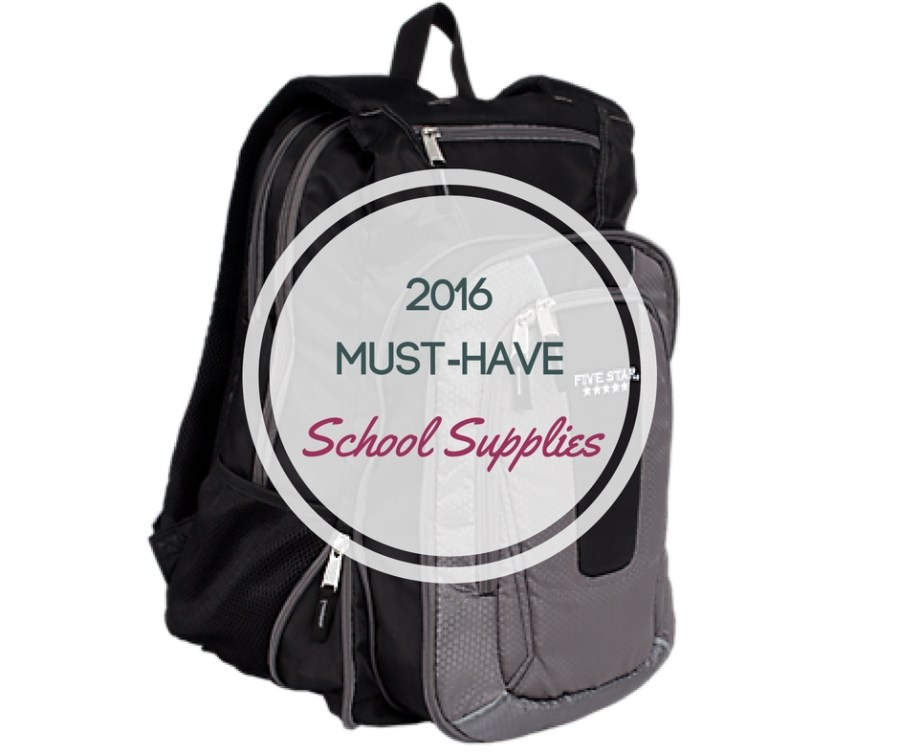 2016 Must Have School Supply List