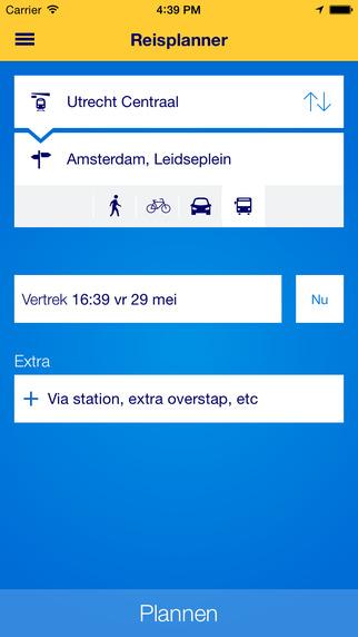 Nieuwe NS Reisplanner Xtra toont actuele info van bus, tram en metro