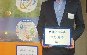 Alexandre Huau-Armani, adjoint en charge du numérique, à la réception du label.