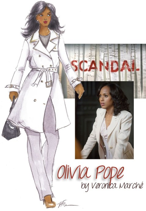 Scandal - Olivia Pope Illustrated by Veronica Marché