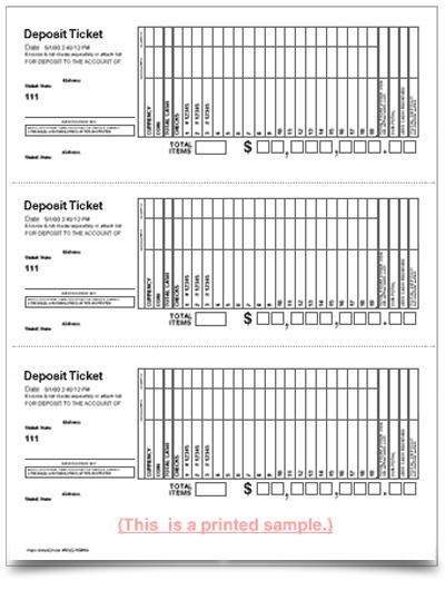 Deposit Slips, Envelopes and Forms - VersaCheck