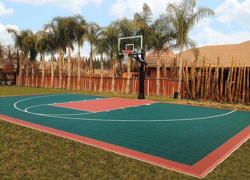 VersaCourt Indoor, Outdoor  Backyard Basketball Courts