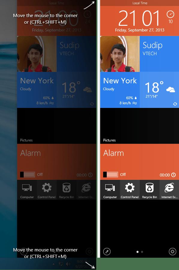 MetroSidebar - Replace Charms Bar of Windows 8.1