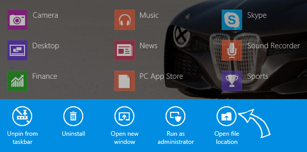 Here is a tine but well-documented tutorial to change app icon from start screen of Windows 8.1 Pro. This is very easy and not yet time-consuming.