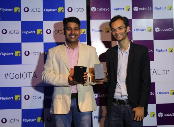 Saurav Kumar, CEO & Co-Founder,  Cube26 & Adarsh Menon, Head of Consumer Electronics, Flipkart launching  IOTA Lite