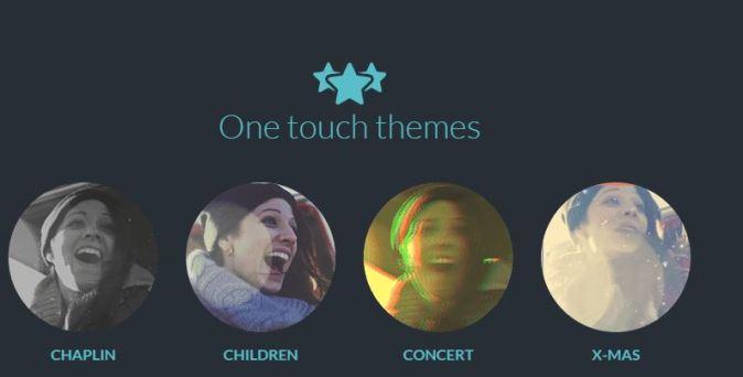 FilmoraGo-one touch theme