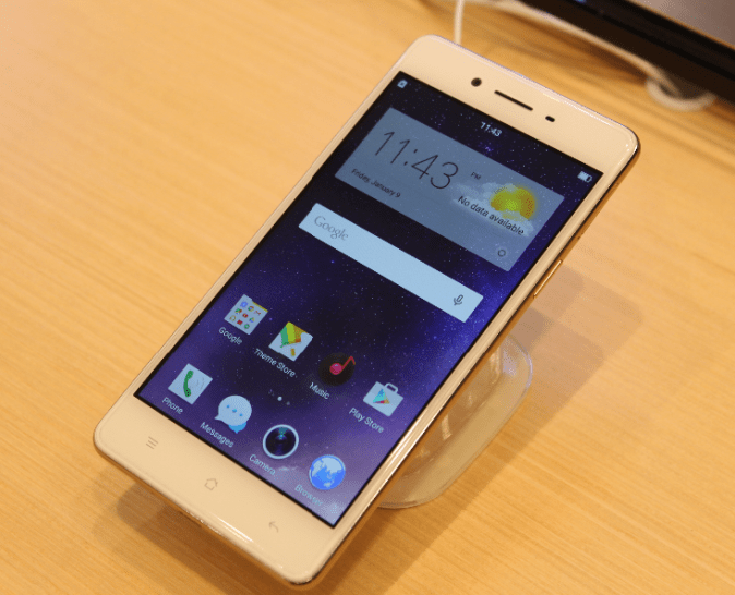 OPPO F1 Selfie Expert Front View