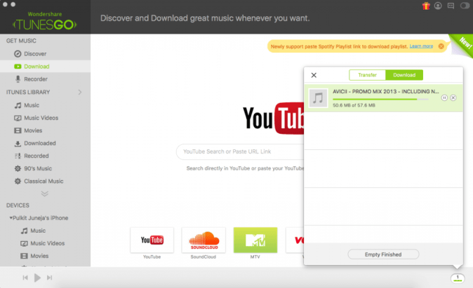 Download Songs from Soundcloud using TunesGo