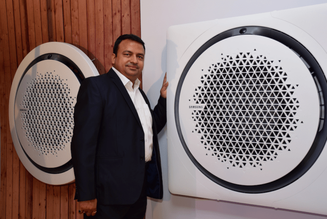 Mr. Vipin Agrawal, Director System A/C Business, Samsung India Electronics today launched the new Air solutions in New Delhi