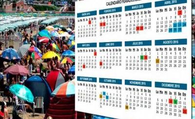 """Los días festivos y fines de semana """"largos"""" del 2016 ..."""