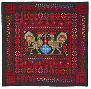 Thread work on Cotton (Cross Stitch)