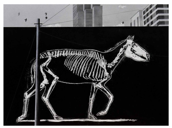 Black Painter 4 (Graffiti series), 2015