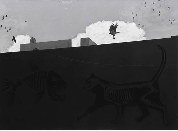 Black Painter 1 (Graffiti series), 2015