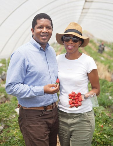 Xolani Gumede and his wife Yoliswa