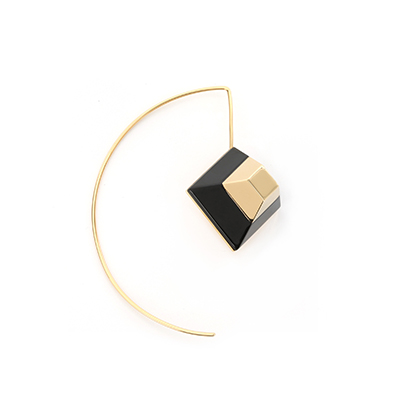 Fendi Rainbow single earring with gold finish metal