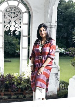 Gayatri Ruia: in the porch of her colonial bungalow