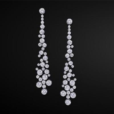 Graff infinity earrings with diamonds