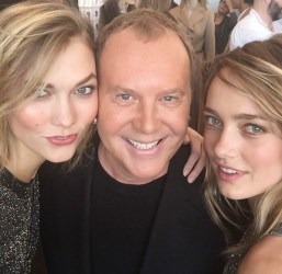 Karlie Kloss with Michel Kors