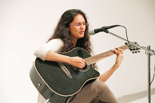 Shubhangi Joshi performing at the end of our festival