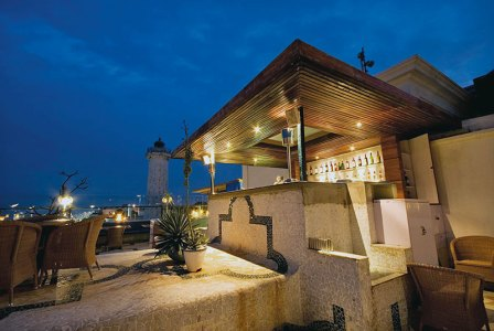 Rooftop bar at the Lighthouse